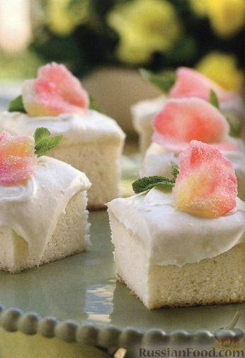 Рецепт Бисквитные пирожные со сливочным кремом