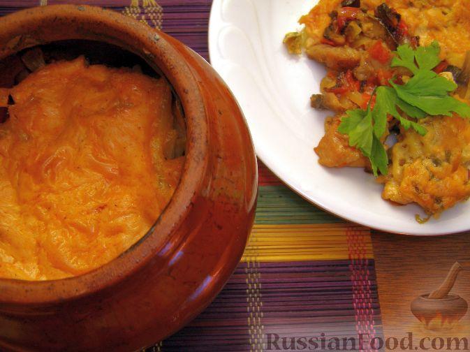 Рецепт Жаркое в горшочке с грибами