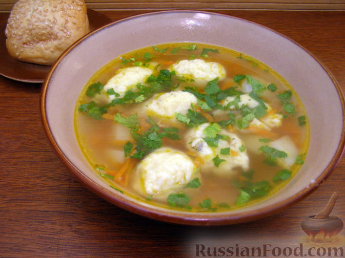 суп с клецками и курицей рецепты с фото