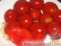 Фото к рецепту: Квашеные помидоры с перцем