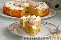 Фото к рецепту: Нежный яблочный пирог-торт