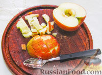 Фото приготовления рецепта: Нежный яблочный пирог-торт - шаг №3