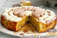 Фото приготовления рецепта: Нежный яблочный пирог-торт - шаг №13