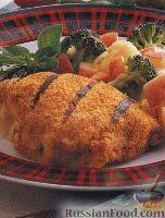 Фото к рецепту: Кордон блю из куриного филе, приготовленное на гриле