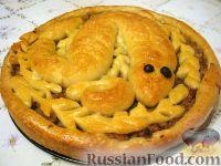 Фото к рецепту: Пирог с мясом и капустой