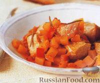 Фото к рецепту: Овощное рагу с тунцом, приготовленное в медленноварке