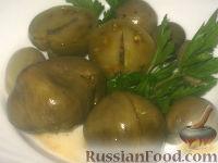 Фото к рецепту: Квашеные зеленые помидоры