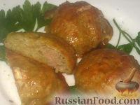 Фото к рецепту: Драники с мясной начинкой