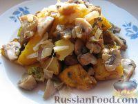 Фото к рецепту: Картофель запеченный с  грибами