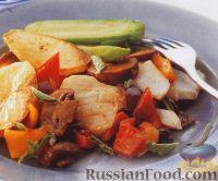 Фото к рецепту: Рыба, запеченная с овощами и грибами