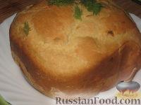 Фото к рецепту: Хлеб домашний с жареным луком