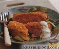 Фото к рецепту: Картофельно-рыбные крокеты со сливочным соусом