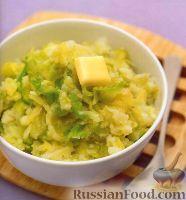 Фото к рецепту: Колканнон (картофельное пюре с капустой)