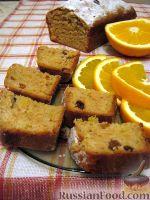 Фото к рецепту: Постный кекс с апельсинами