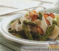 Фото к рецепту: Салат из спаржи и каштанов