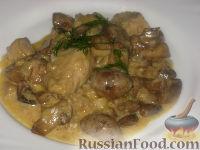 Фото к рецепту: Рагу из пангасиуса с грибами