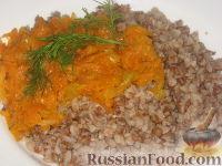 Фото к рецепту: Гречневая каша с овощами