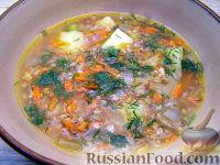 Фото к рецепту: Густой гречневый суп
