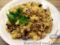 Фото приготовления рецепта: Каша пшенная с грибами - шаг №8