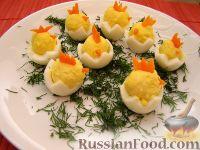 """Фото к рецепту: """"Цыплята"""" из перепелиных яиц"""