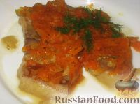 Фото к рецепту: Розовая камбала с овощами