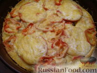 Фото приготовления рецепта: Пицца из теста на кефире - шаг №17
