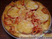 Фото к рецепту: Пицца из теста на кефире
