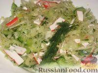 Фото к рецепту: Овощной салат с крабовыми палочками