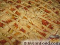 Фото к рецепту: Грушево-сырный пирог из слоёного теста