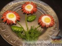 """Фото к рецепту: """"Ромашки"""" из перепелиных яиц"""