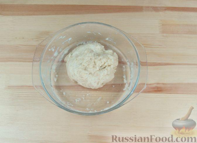 """Фото приготовления рецепта: Отрывной пирог """"Яблочные рожки"""" - шаг №12"""