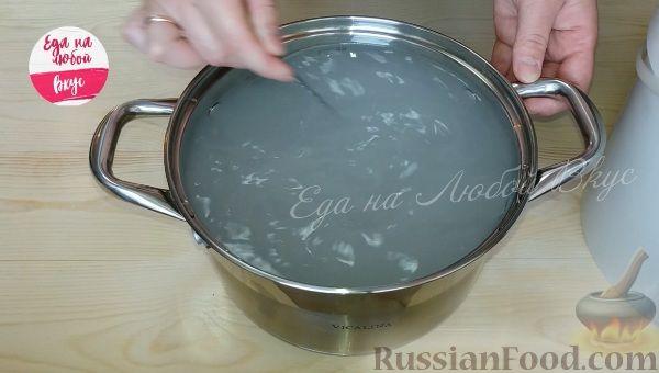 Фото приготовления рецепта: Суп с курицей и тыквенной лапшой - шаг №5