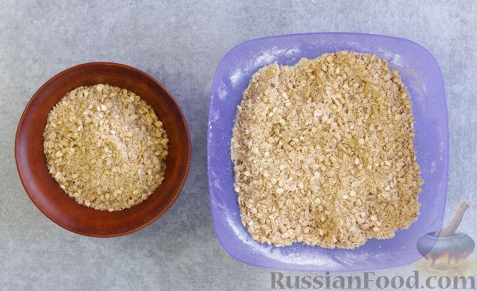 Фото приготовления рецепта: Овсяное печенье с малиной - шаг №5
