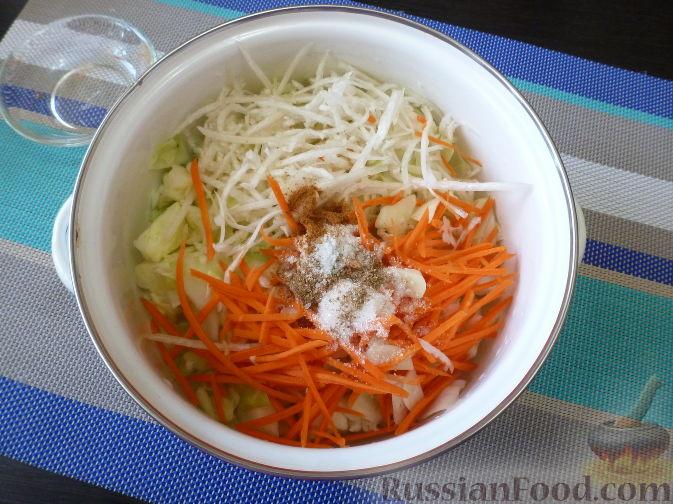 Фото приготовления рецепта: Овощной салат по-корейски - шаг №8