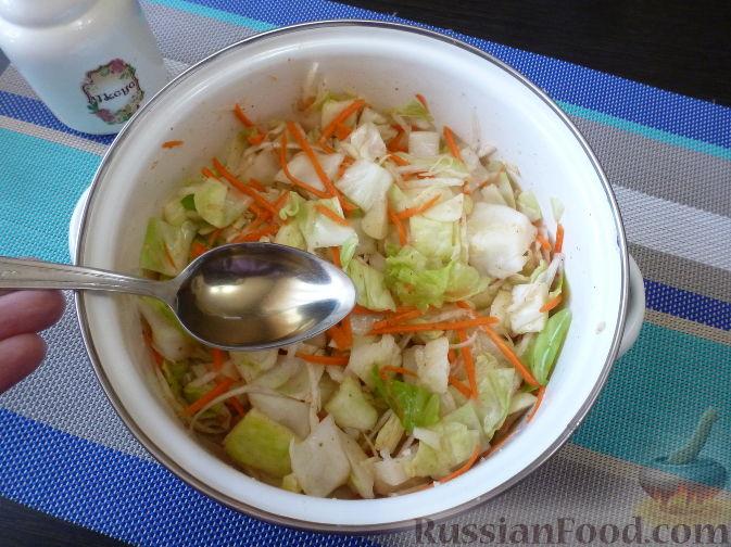 Фото приготовления рецепта: Овощной салат по-корейски - шаг №9