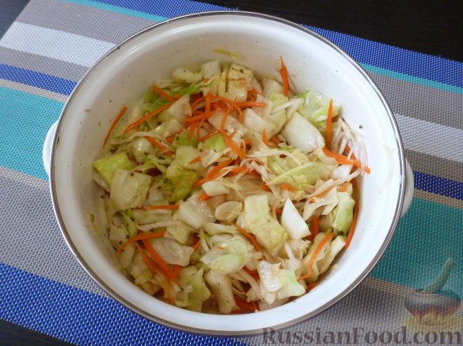 Фото приготовления рецепта: Овощной салат по-корейски - шаг №12