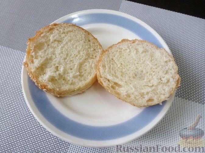 Фото приготовления рецепта: Горячий бутерброд с фруктами - шаг №5