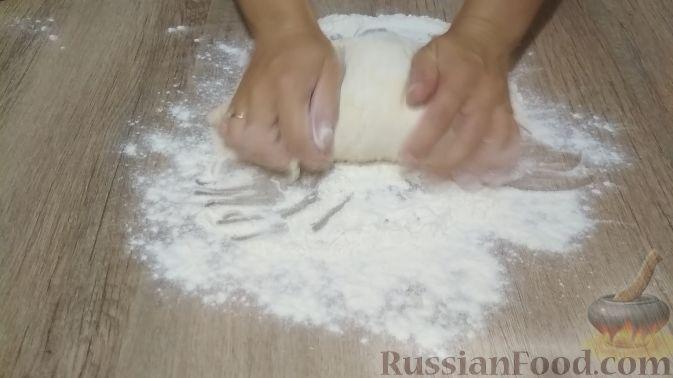Фото приготовления рецепта: Творожный торт на сковороде - шаг №7