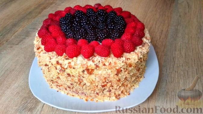 Фото приготовления рецепта: Творожный торт на сковороде - шаг №17