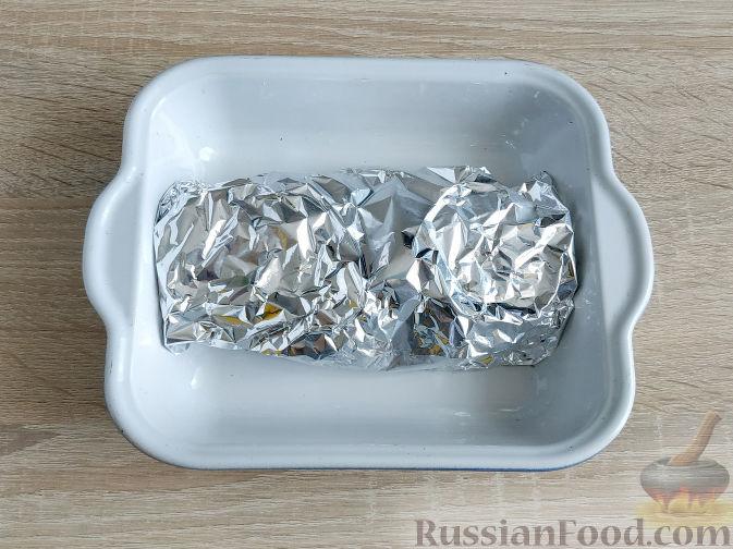 Фото приготовления рецепта: Салат с запеченным куриным филе и яичными блинчиками - шаг №3