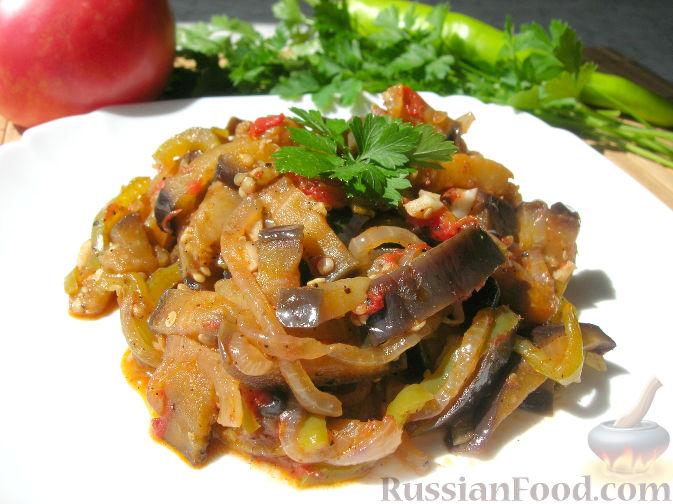 Фото к рецепту: Кадича (баклажаны по-корейски)