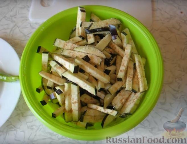 Фото приготовления рецепта: Кадича (баклажаны по-корейски) - шаг №3
