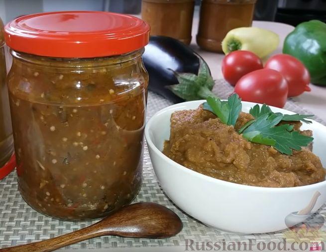 Фото к рецепту: Икра из баклажанов (без жарки и запекания)