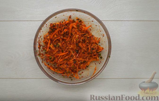 Фото приготовления рецепта: Кимчи из зелёного острого перца - шаг №9
