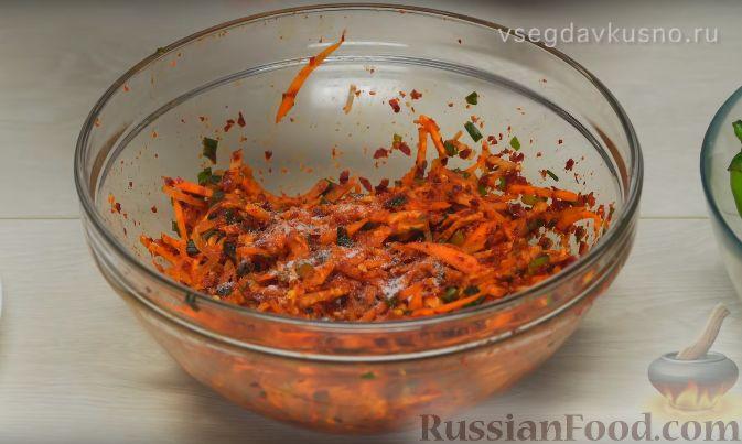 Фото приготовления рецепта: Кимчи из зелёного острого перца - шаг №10