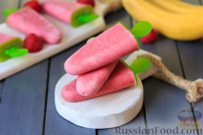 Фото приготовления рецепта: Клубнично-банановое мороженое - шаг №6