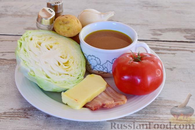 Фото приготовления рецепта: Ирландский суп с капустой и беконом - шаг №1
