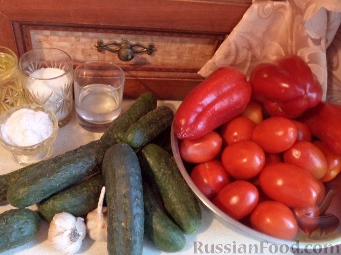 Фото приготовления рецепта: Салат из огурцов «Пять соток» - шаг №1
