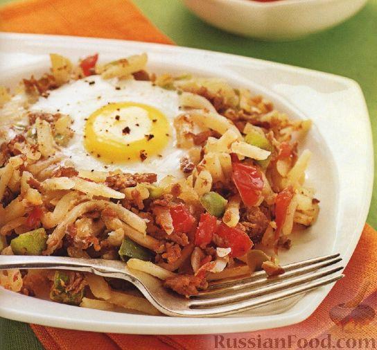Рецепт Рагу из измельченного картофеля и фарша