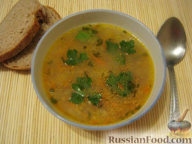 Рецепт Картофельный суп с сушеными грибами
